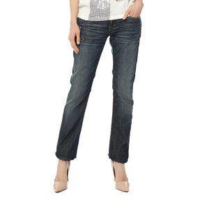 TAVERNITI SO Janis Dark/Black Boot Distress Jeans